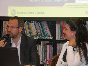 Diego Valenzuela junto a Marcela Pelanda.